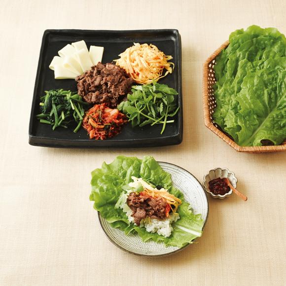 画像: 韓国風手巻き寿司のつくり方