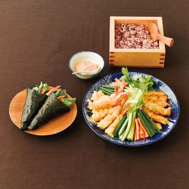 画像: 天ぷら手巻き寿司のつくり方