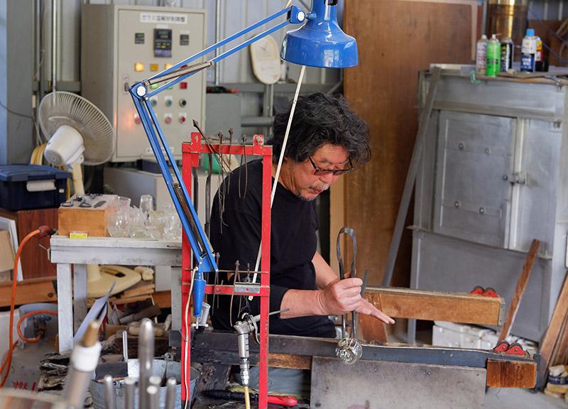 画像3: 天竜川を見下ろすアトリエで聞いた、ガラス作品製作への思い