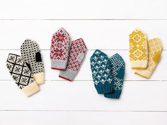 画像: 小林ゆかさんがつくる 春夏秋冬の手編みのミトン