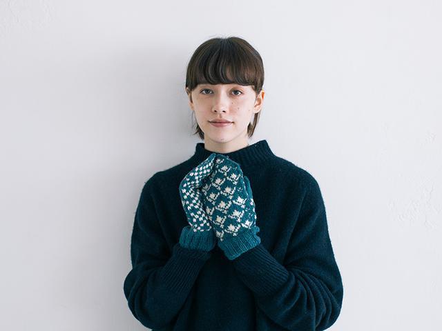 画像: 〈夏〉ヒメイワダレソウをモチーフにした編み込み模様のパターン