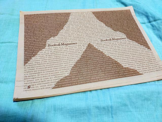 画像: 「bookgoods.jp」で購入している書皮。薄くて掛けやすいです。