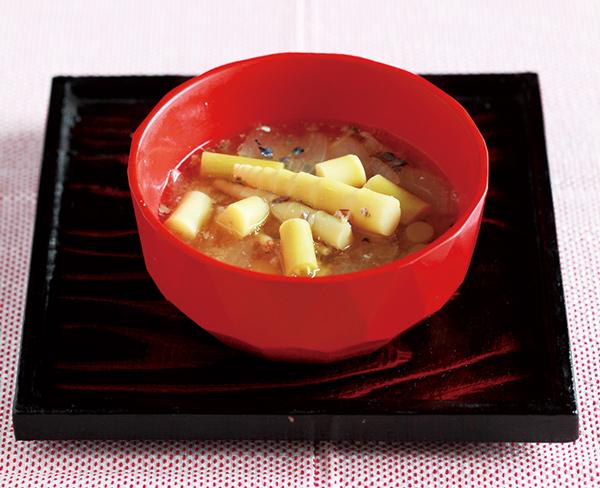 画像: 根曲がり竹とさば缶の味噌汁のつくり方