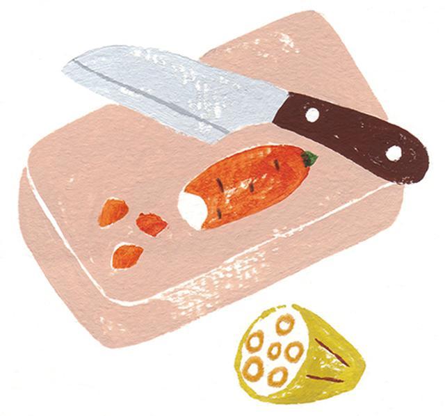画像: ご年配用には細かく切って食べやすく