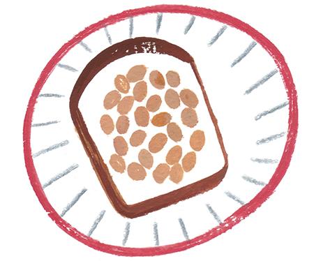 画像: 納豆など洗いにくい食材はパンやごはんにのせて