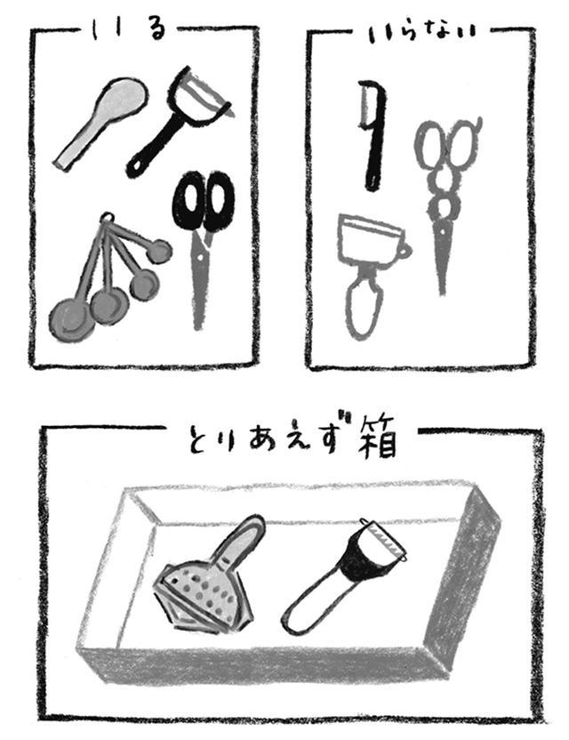 画像: Step 3 いる、いらない、に分ける