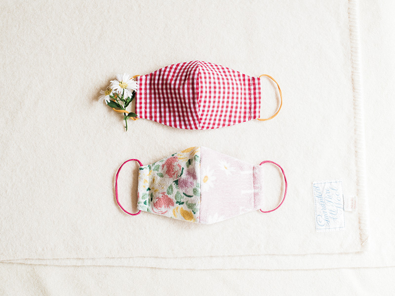 画像: リユース素材の布マスク