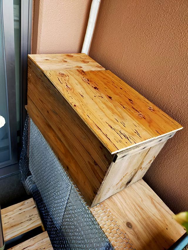 画像: プランターの古土はためておき、実家の山林の腐葉土と交換する。