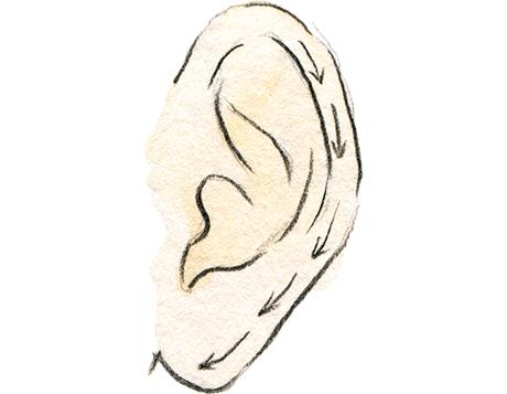 画像1: 耳のマッサージ
