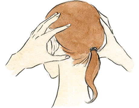 画像2: 頭のマッサージ