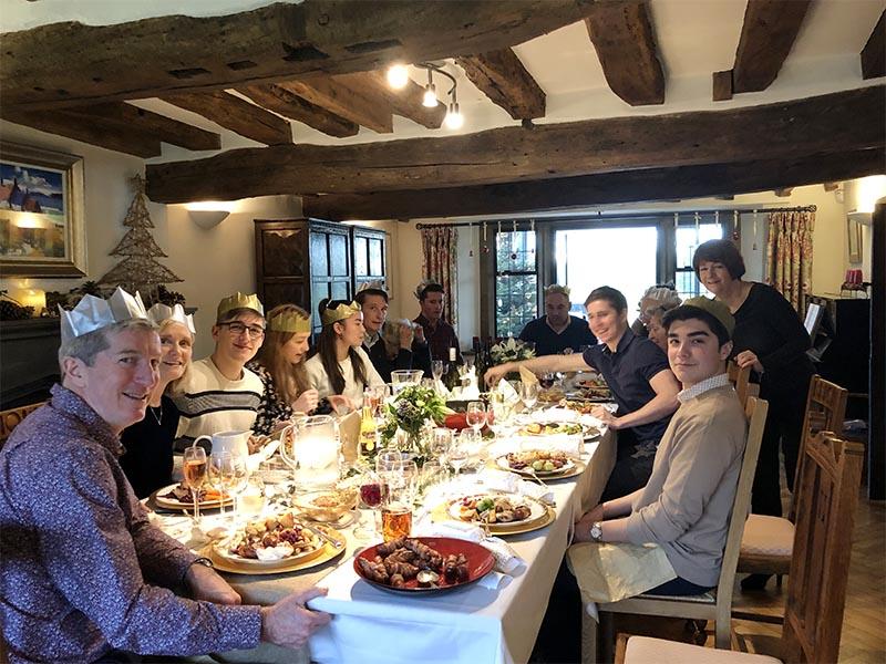 画像: 2年前の、家族が勢揃いした義理の姉の家でのクリスマス
