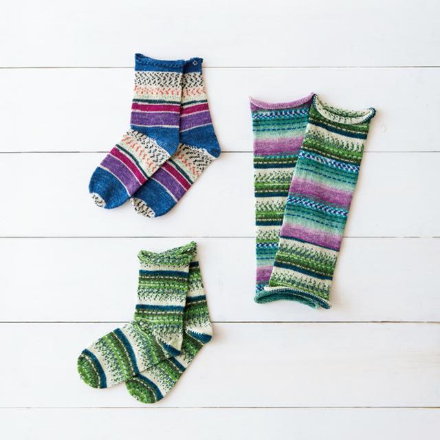 画像: 第8回 誌上マルシェ 『天然生活』× 梅村マルティナ 魔法の毛糸で編んだ しあわせの靴下とレッグウォーマー
