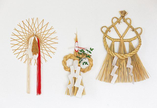 画像: 出雲大社と同じ縄を使ったしめ縄や作家物のしめ縄など、個性的なしめ縄を集めている
