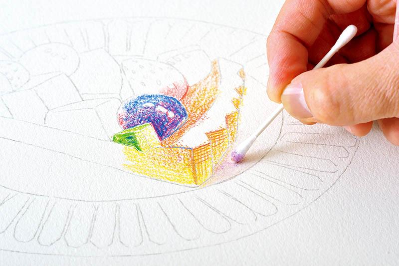 画像4: クリアな発色で、細い線も塗りも楽々描ける色鉛筆