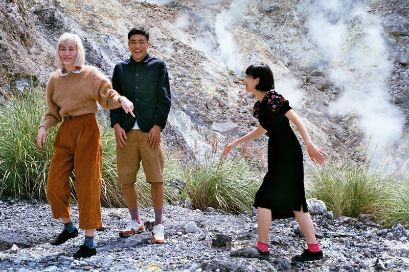 画像1: 煙がもくもく「小油坑(シャオヨウカン)歩道」