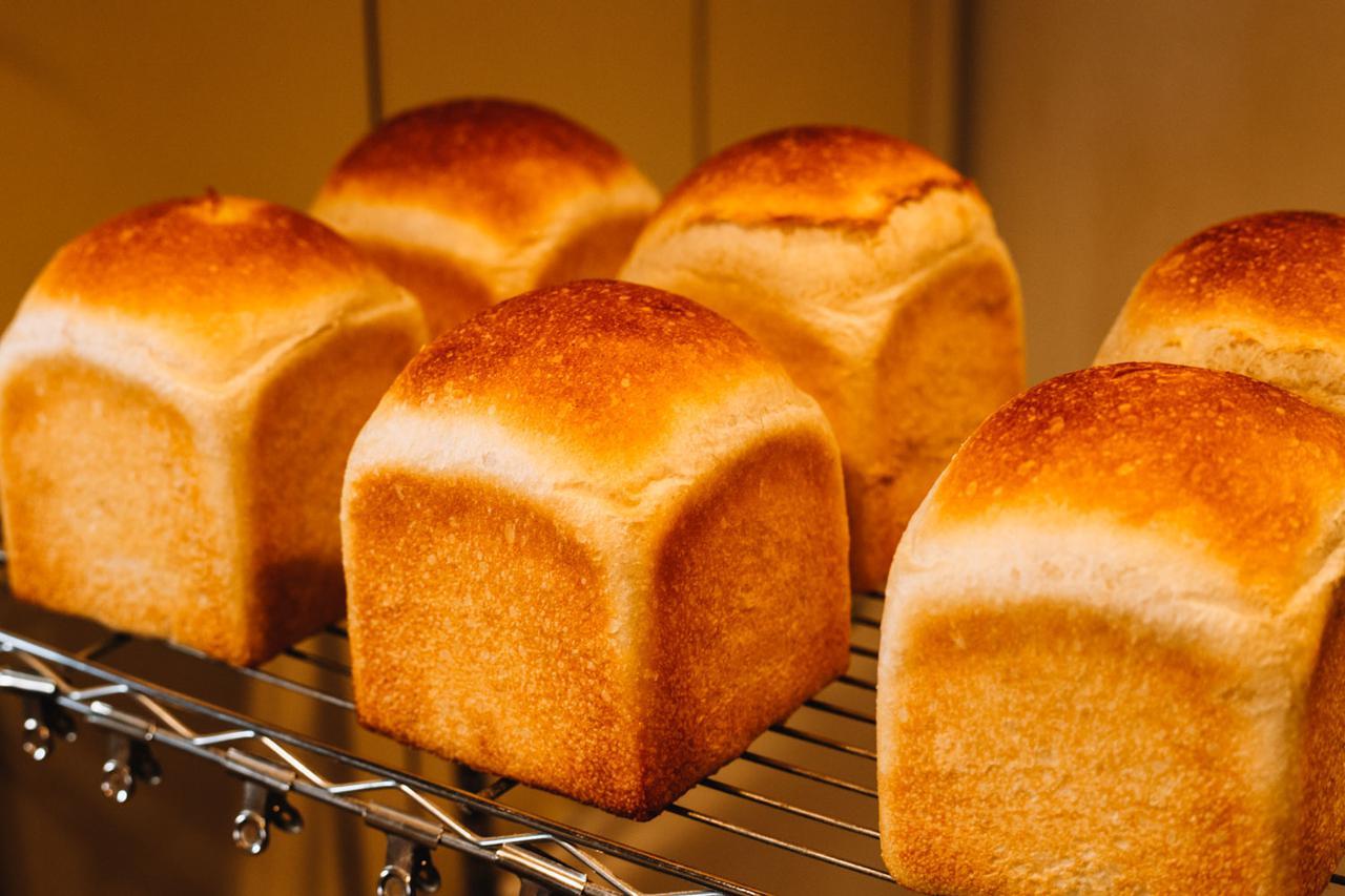 画像: フランスパン生地でつくる「フランス食パン」も人気の品。準強力粉では膨みが足りないが、発酵種を使うことでこれを克服。もちっとした食感で、粉の味がストレートに感じられます
