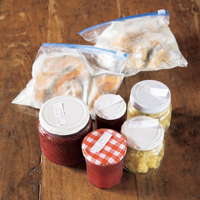 画像: 庭の収穫物をジャムに 庭で採れた栗やラズベリーはジャムにして、朝食に。切るのが面倒なかぼちゃは薄切りにして冷凍し、必要な分を、そのつど解凍すると楽