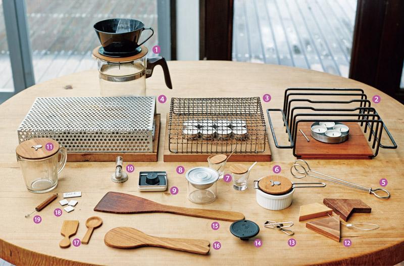 画像: 石黒智子さんの台所道具 自分でつくったものも、たくさん