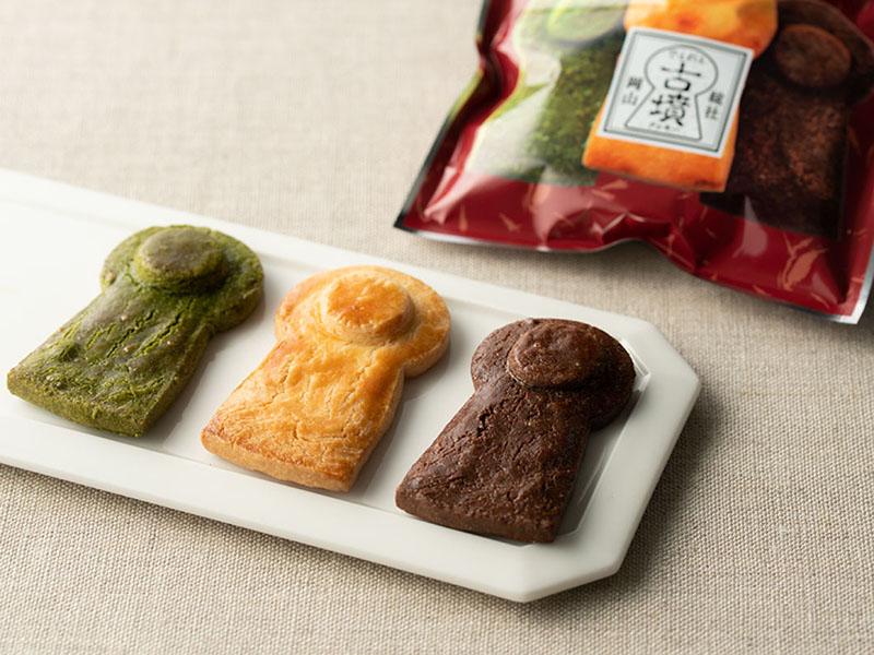 画像: でぇれぇ古墳クッキー 30g×3 袋入り540円(シャルマン)