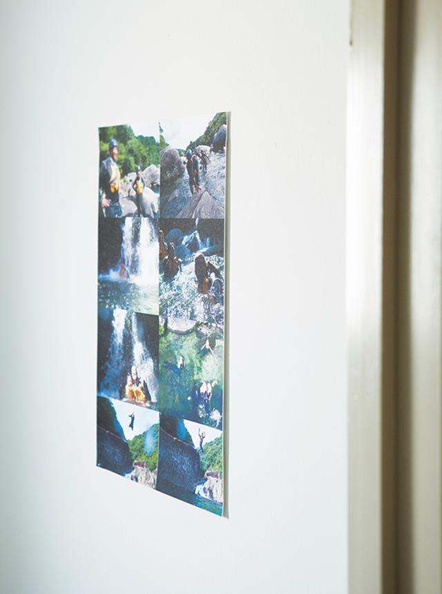 画像: 壁に写真を貼って「トイレギャラリー」に。鮮やかな自然の写真に癒やされる