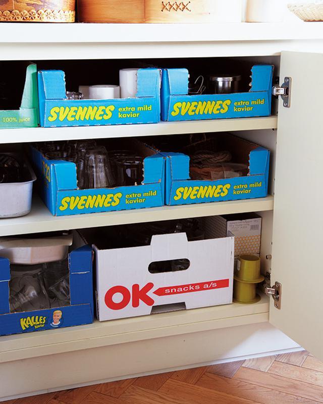画像: 流通箱は買い付け品の郵送時の梱包材として使用後、こちらで活用
