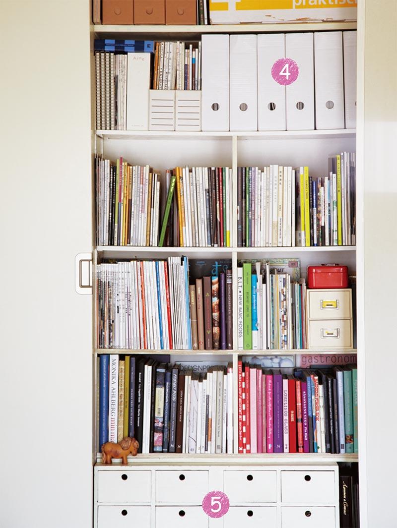 画像: クローゼットの右側は本棚に