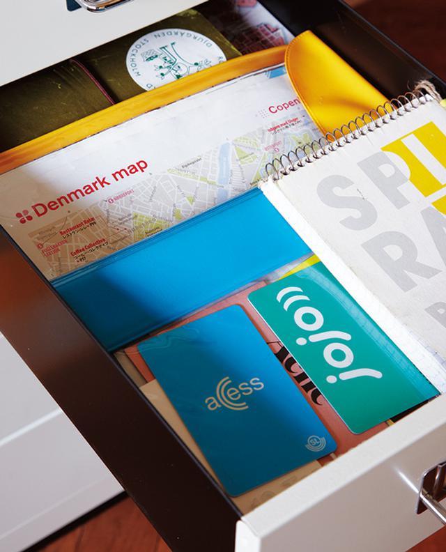 画像: 北欧旅の必需品入れ。電車のプリペイドカード、地図などをひとまとめ