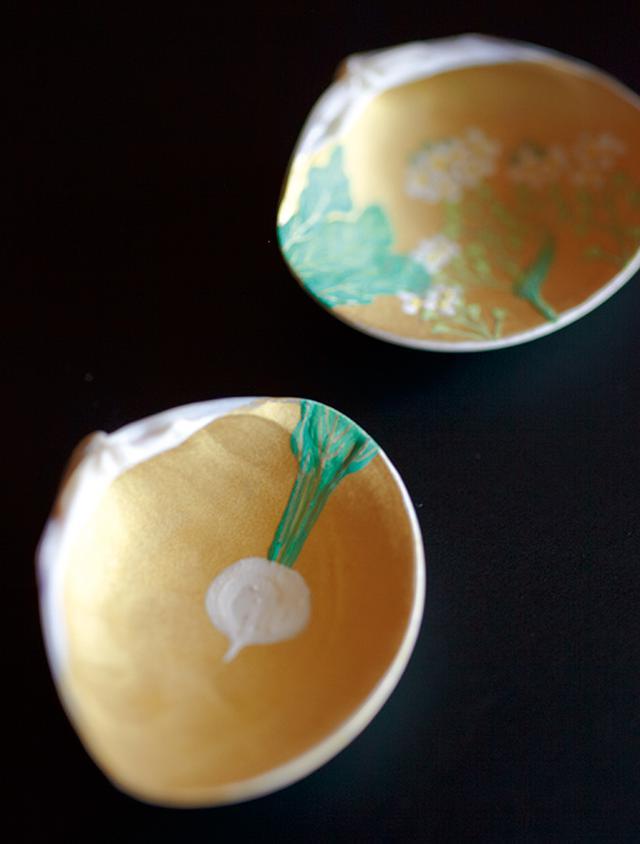 画像: 春の七草のひとつ、スズナ(かぶ)の絵
