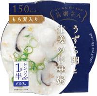 画像: 「うずら卵と生姜の中華粥」 は、うずら卵が2つ、鶏むね肉、椎茸入り。生姜の香りが食欲をそそります