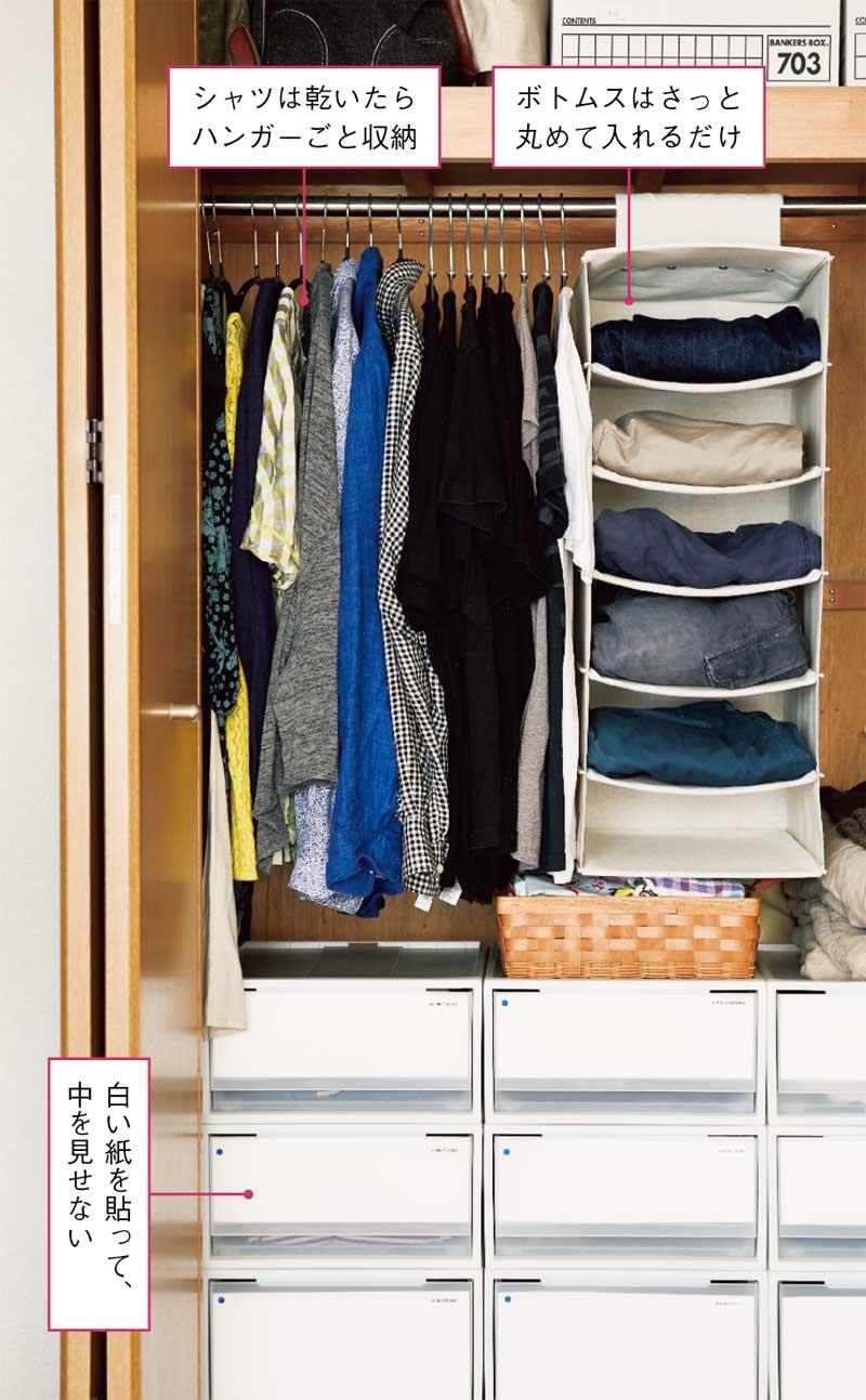 画像: Idea 1 洗濯した衣類はたたまずにしまう