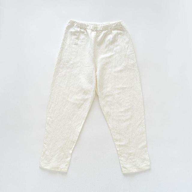 画像: シルッキパンツ -SILKKI LINEN- White ¥26,400 (税込) silkki.shop