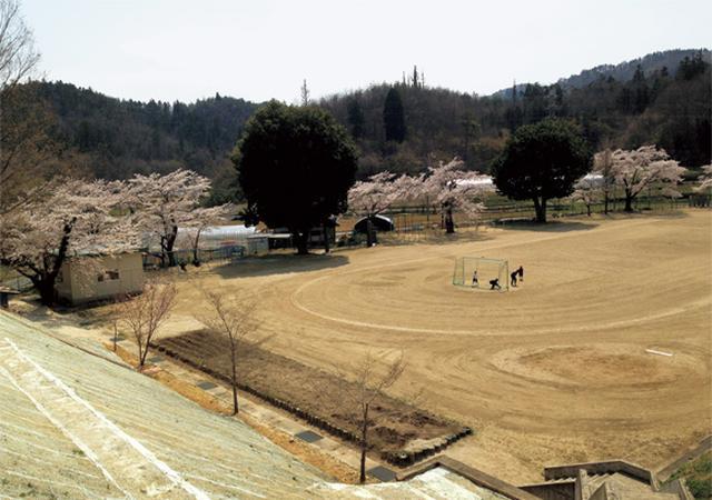 画像: 2作目のモデル、伊達市立富成小学校。校庭を除染し、使用可能に(松本さん撮影)