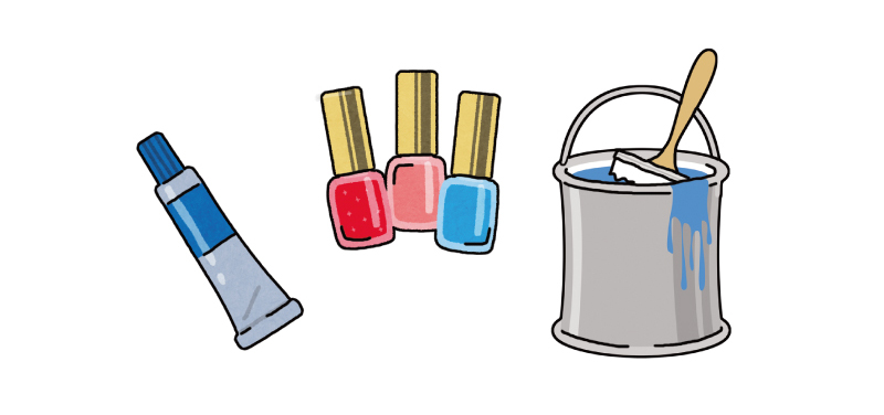 画像1: 3.マニキュア、接着剤、ペンキなどのシミ
