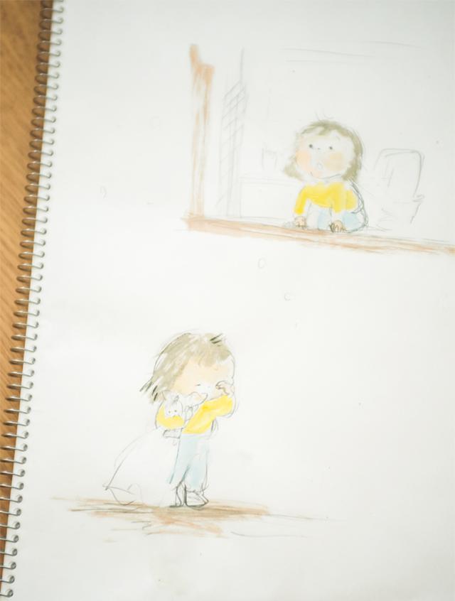 画像: 子どものスケッチ。「昔から、子どもを描いていると幸せな気持ちになります」