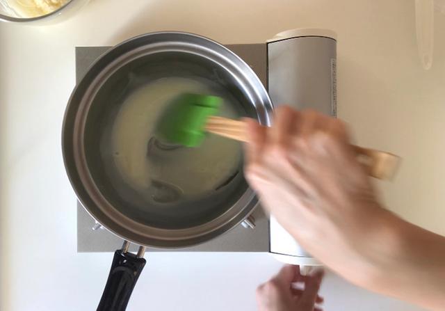画像: 杏仁霜を入れるととろみが出る