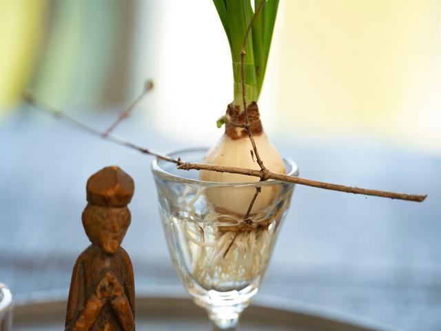 画像: アイデア2 器に枝を渡して掛ける