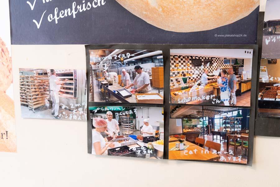 画像: 店内には修業時代の写真が飾られ、ドイツの職人さんたちとの和気あいあいとした様子が伺えます