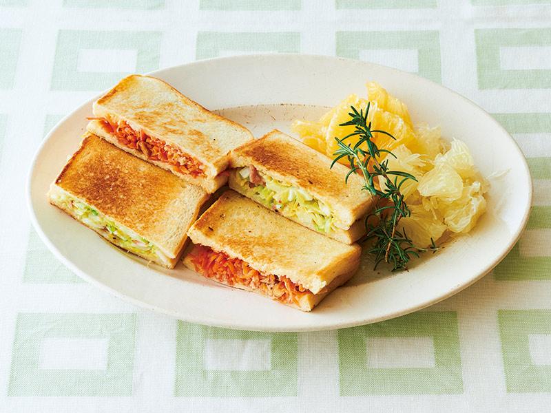 画像1: 巻頭料理 枝元なほみさん ホットサンドとクイックパン
