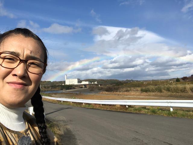 画像: 福島ロケ中に虹