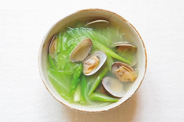 画像: お手軽気血ごはん 春の料理 あさりと春野菜のスープ