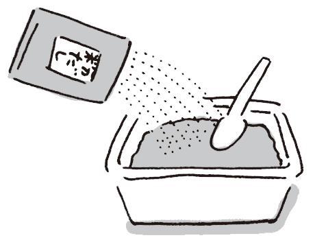 画像: 市販のみそに粉だし適量を混ぜた、だし入りみそを作っておくと、お椀に入れてお湯を注ぐだけで手軽。