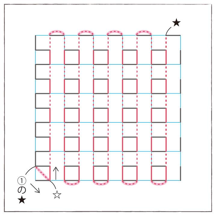 画像5: 図案の刺し方(山茶花の刺し方)