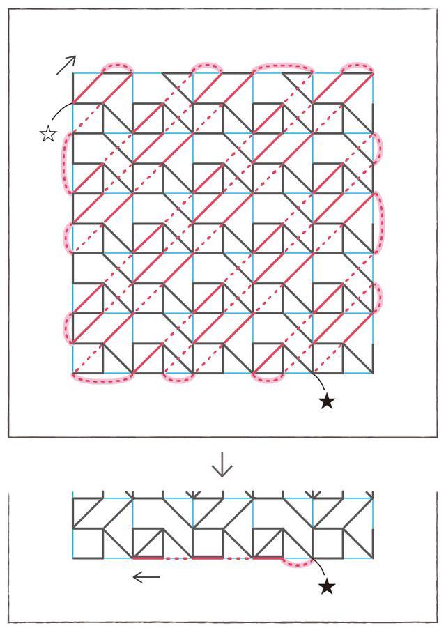 画像8: 図案の刺し方(山茶花の刺し方)