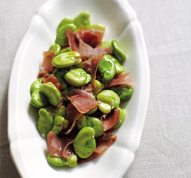 画像: そら豆と生ハムの炒めもののつくり方