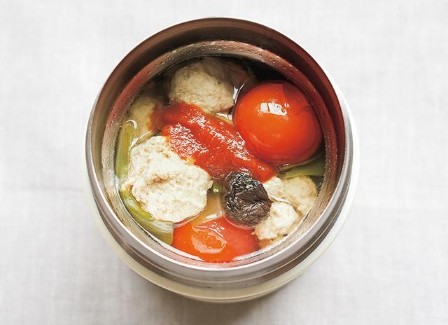 画像: お手軽気血ごはん スープ 豚肉とキャベツのロールキャベツ風