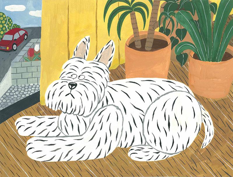 画像: 実家で飼っていた犬の絵