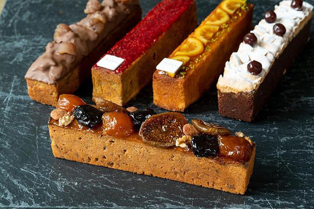 画像: 左から「マロン」、「紅茶」、「オランジェ」、「ショコラ・グリオット」、手前が「フリュイ」