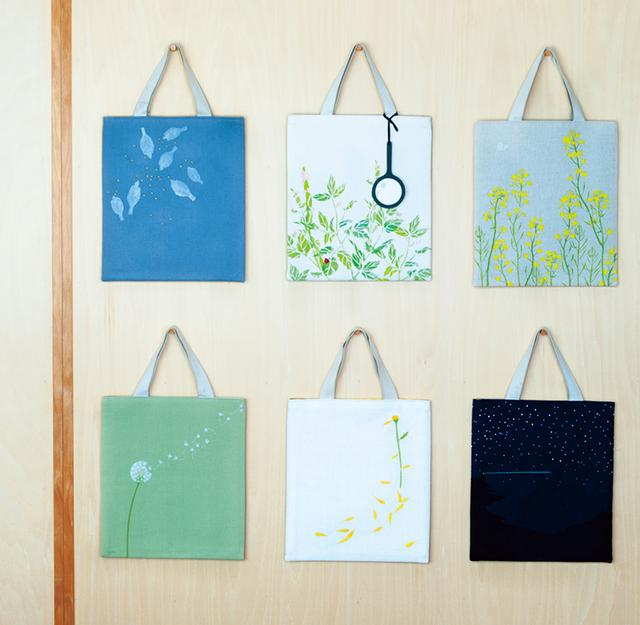 画像: さまざまな展示会用につくった「uiBag」。「アートを持ち歩けるように」とバッグに仕立てる