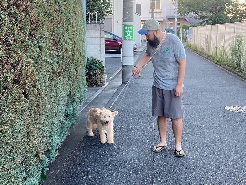 画像: 初めての散歩(パニックで過呼吸)