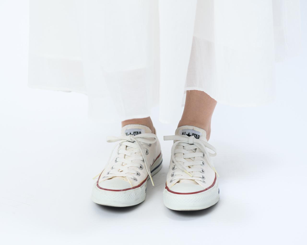 画像: 靴ひもを引き締めた状態(前から見たところ)